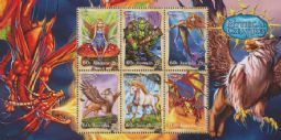 Australia Stamps SGMS3658 Stamp Collecting Month 2011: Mythical Creatures miniature sheet